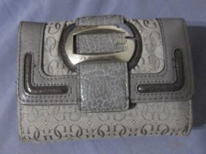 Porte monnaie - porte cartes GUESS gris