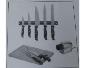 Lot de 5 couteaux de cuisinier et accessoires