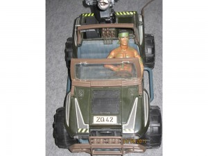 Voiture Action Man + Action Man (Jeep)