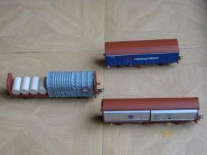lot de 3 Wagons pour train électrique LIMA