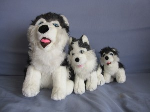 3 Peluches Huskys