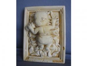 Cadre en plâtre bébé