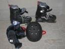 Rollers avec casque et protections