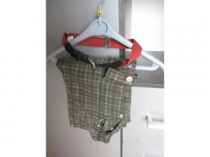 Ensemble chemise, pantalon et ceinture, taille 3ans