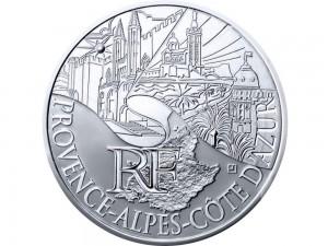 10 € en argent de 2011 de la région Provence-Alpes Cote d Azur
