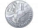 10 € en argent de 2011 de la région Poitou-Charentes