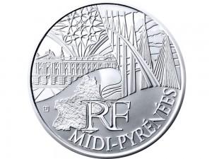 10 € en argent de 2011 de la région Midi-Pyrénées