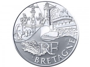 10 € en argent de 2011 de la région Bretagne