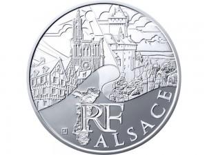 10 € en argent de 2011 de la région Alsace