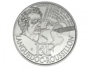 10 € en argent de 2012 de la région Languedoc-Rousillon