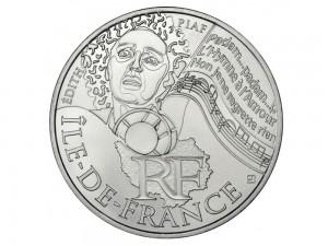 10 € en argent de 2012 de la région Ile-de-France