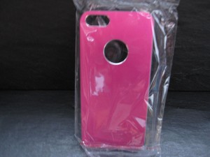 Coque Alu iPhone 5 rose - Coque rigide iPhone 5