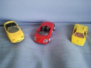 Lot de 3 voitures de sport
