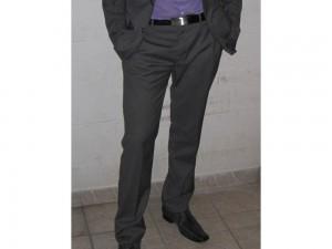 Pantalon à pince gris BRICE