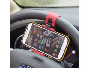 Support  de Téléphone Portable sur volant de voiture ou guidon de velo
